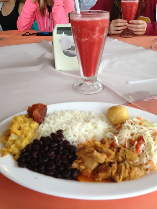 First lunch in Costa Rica