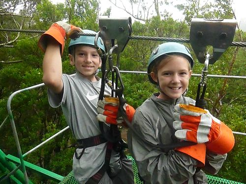 Zip-lining in the Cloud Forest