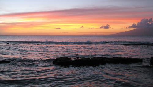 Sunset over Honokowai